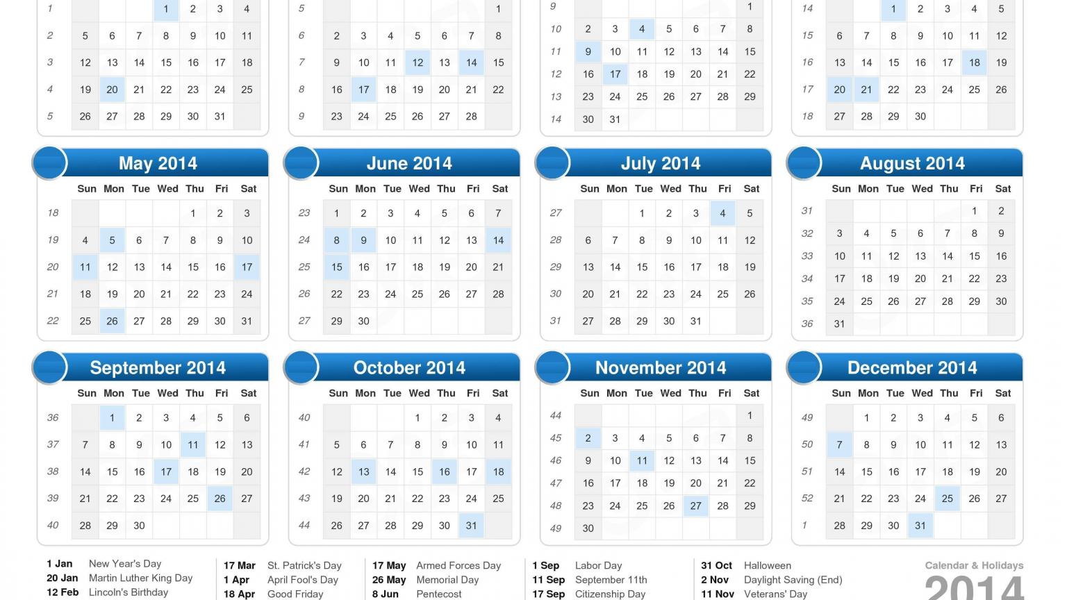 Free download Calendar 2014 Public Holidays PDF Download Festivals