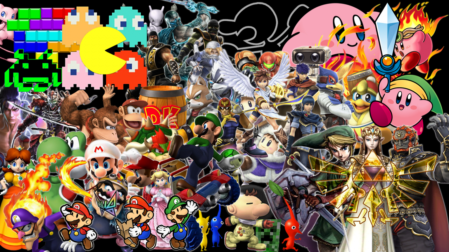 Classic Video Game Wallpaper All Characters 1600x900