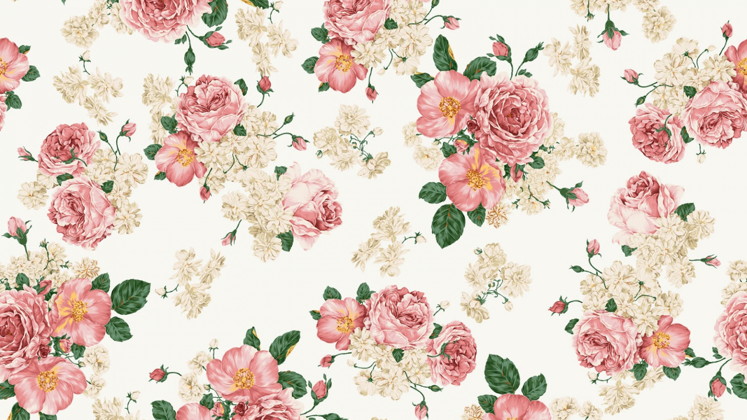 Free Download Vintage Floral Wallpaper Pattern 1600x1000 For