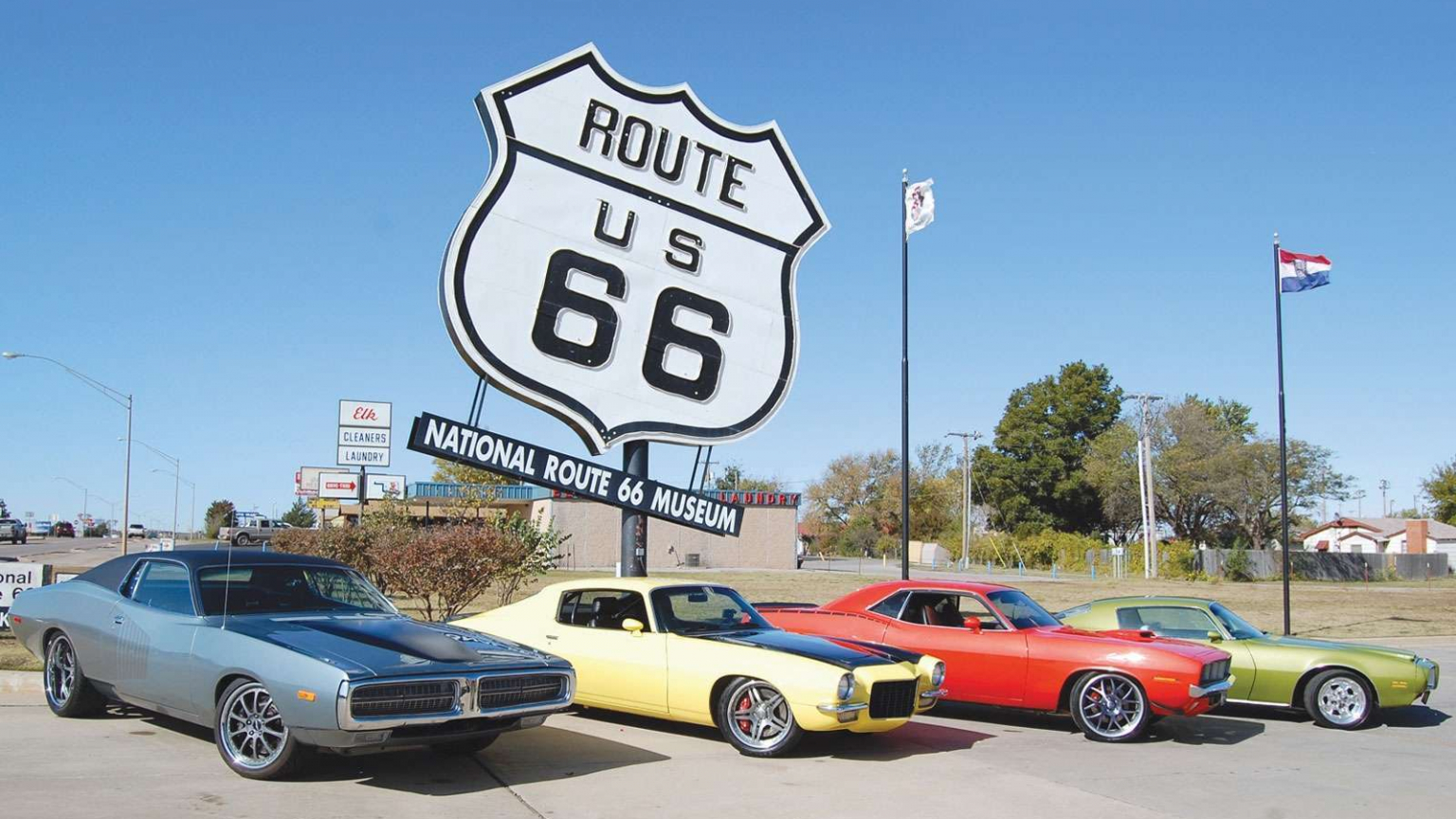 Free Download Muscle On Route 66 Wallpaper Hd Car Wallpapers