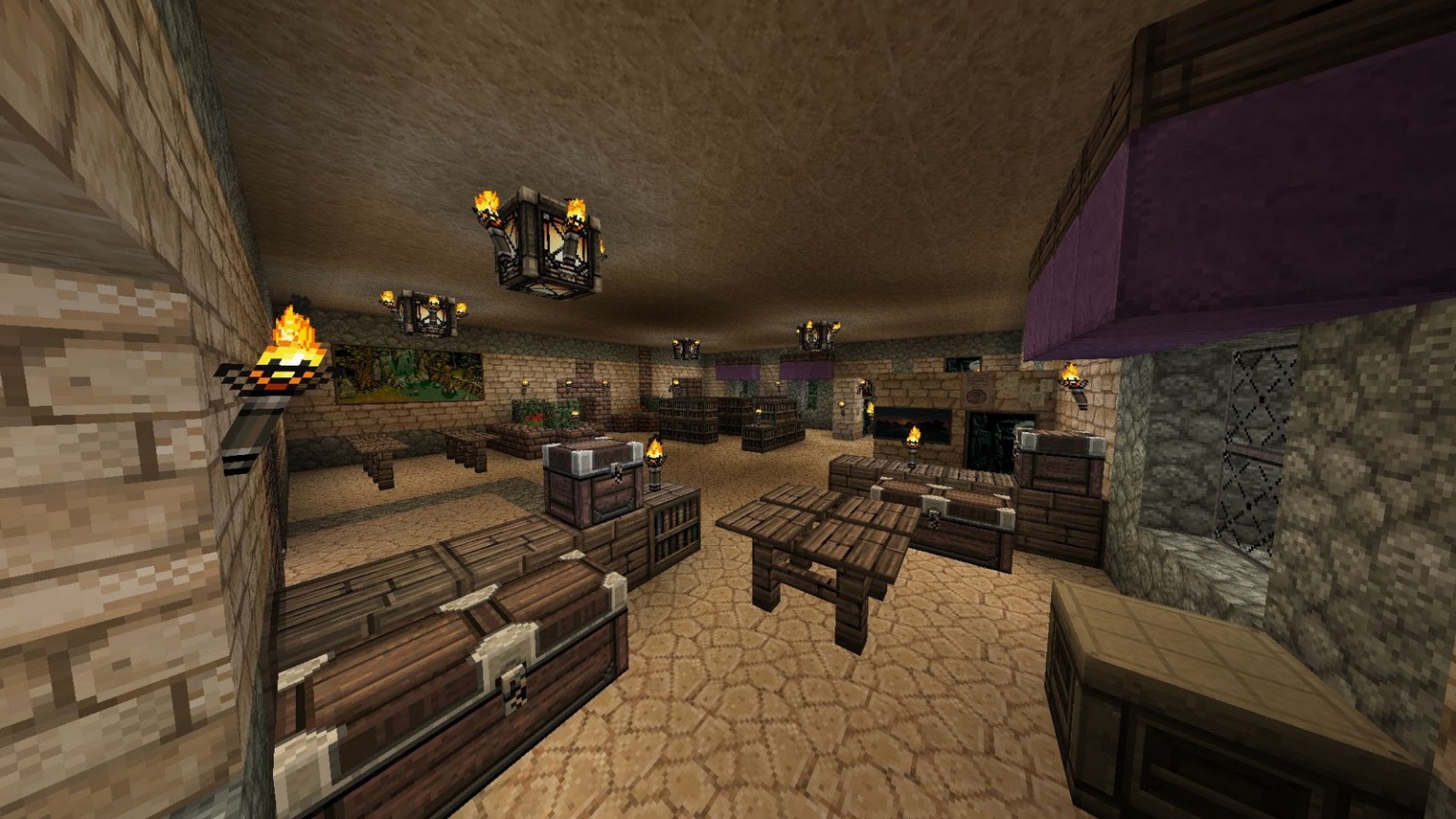 How To Decorate A Living Room In Minecraft