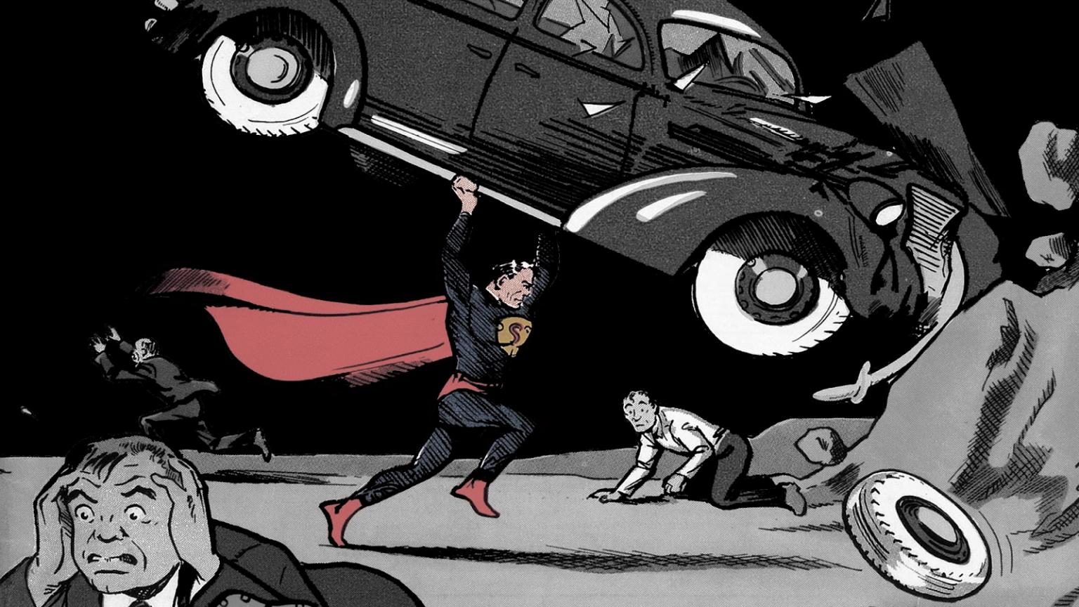 1600x900px Vintage Superhero Wallpaper