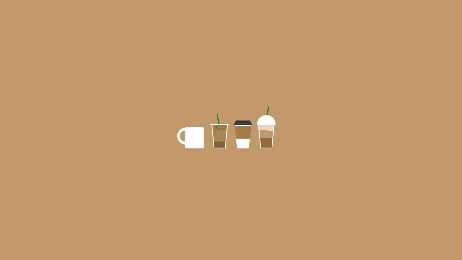 Free download Coffee Illustration Aesthetic desktop ...