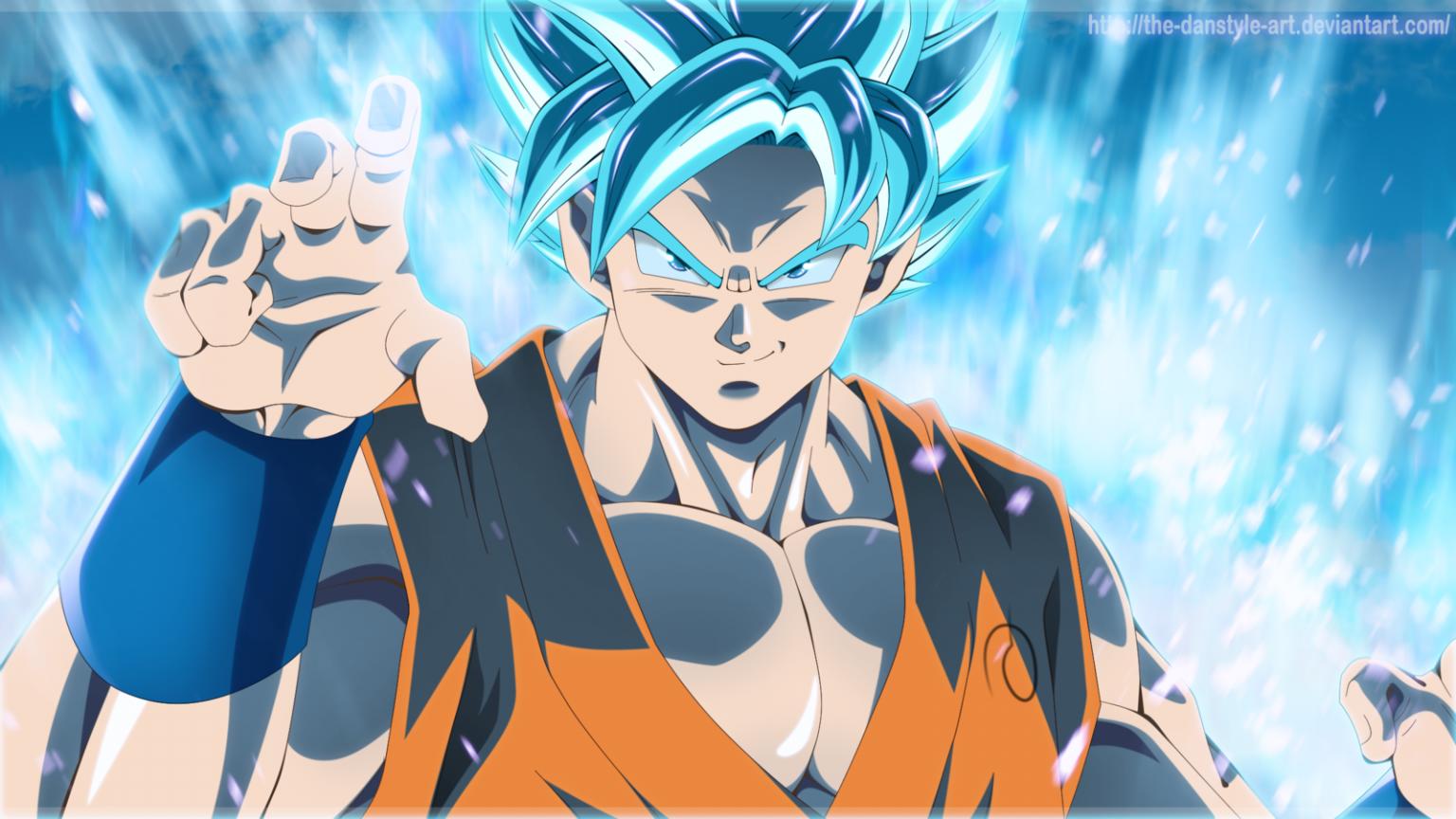 Free Download Goku Super Saiyan Blue Wallpaper Hd 1600x900 For