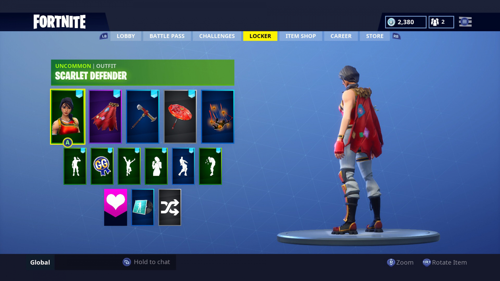 Fortnite Cape free download scarlet defender fabled cape axecalibur