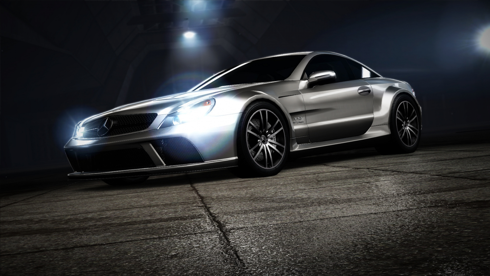 Free Download Sivi Mercedes Sl65 Amg Pozadineinfo Najbolje