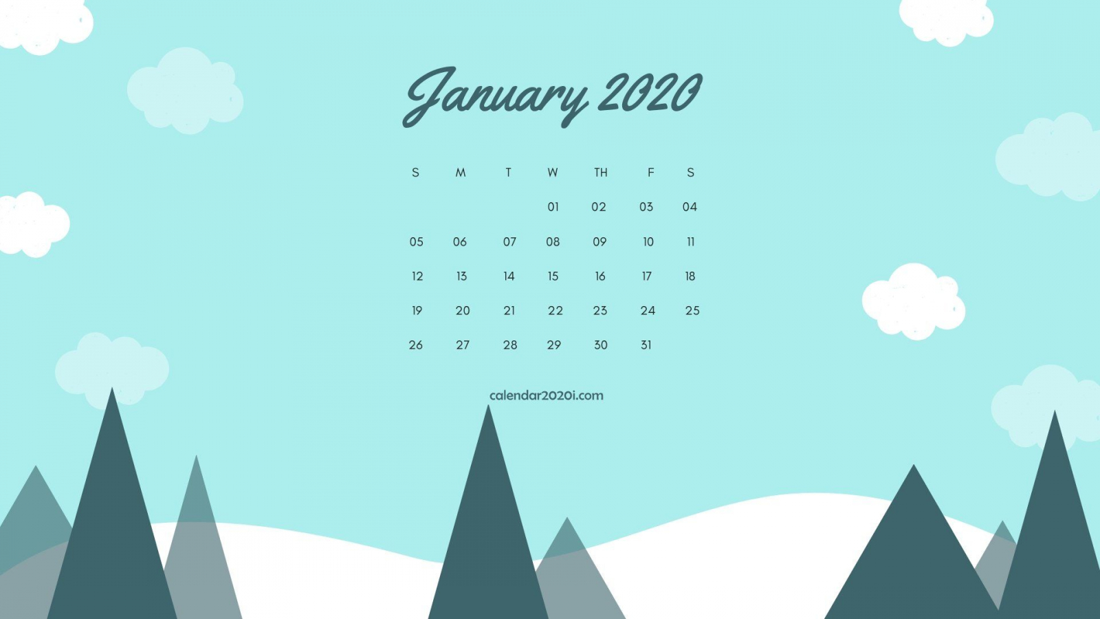 Free download January 2020 Calendar Wallpapers Top January ...