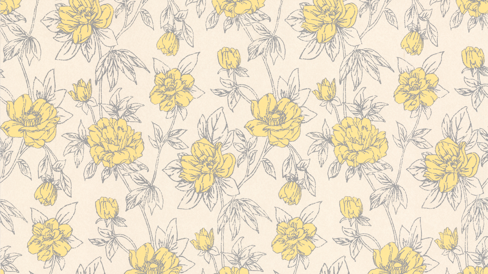 Free Download Vintage Yellow Floral Wallpaper Spring Yellow