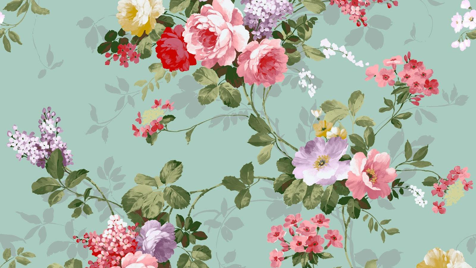 Free Download Download Classic Floral Vintage Design Wallpaper