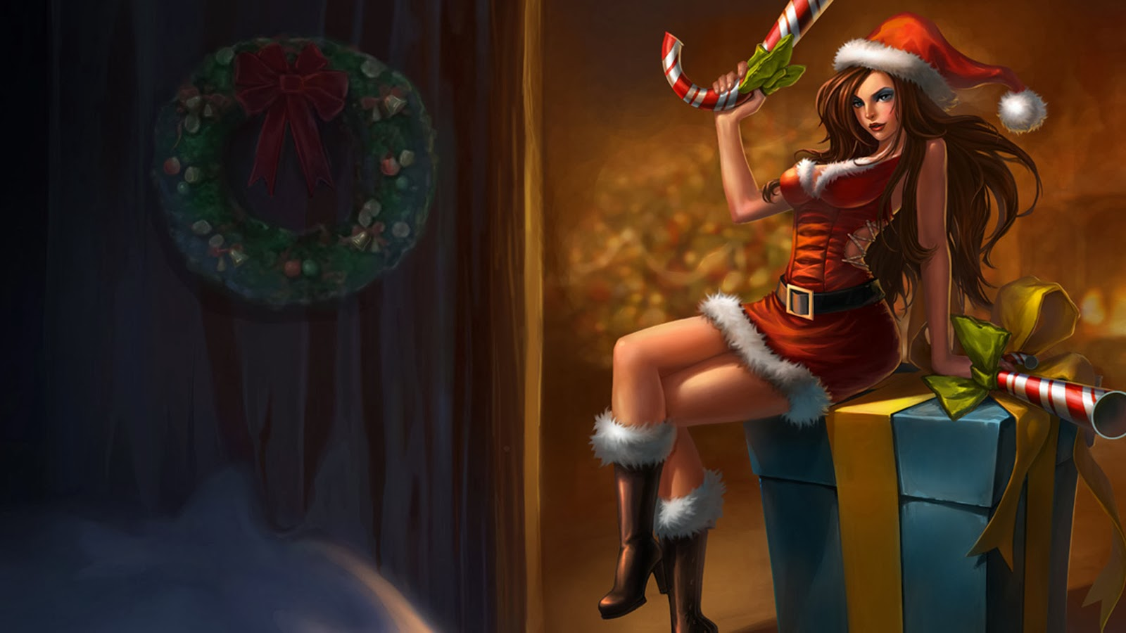 Free Download Miss Fortune Candy Cane Gifts League Of Legends Lol