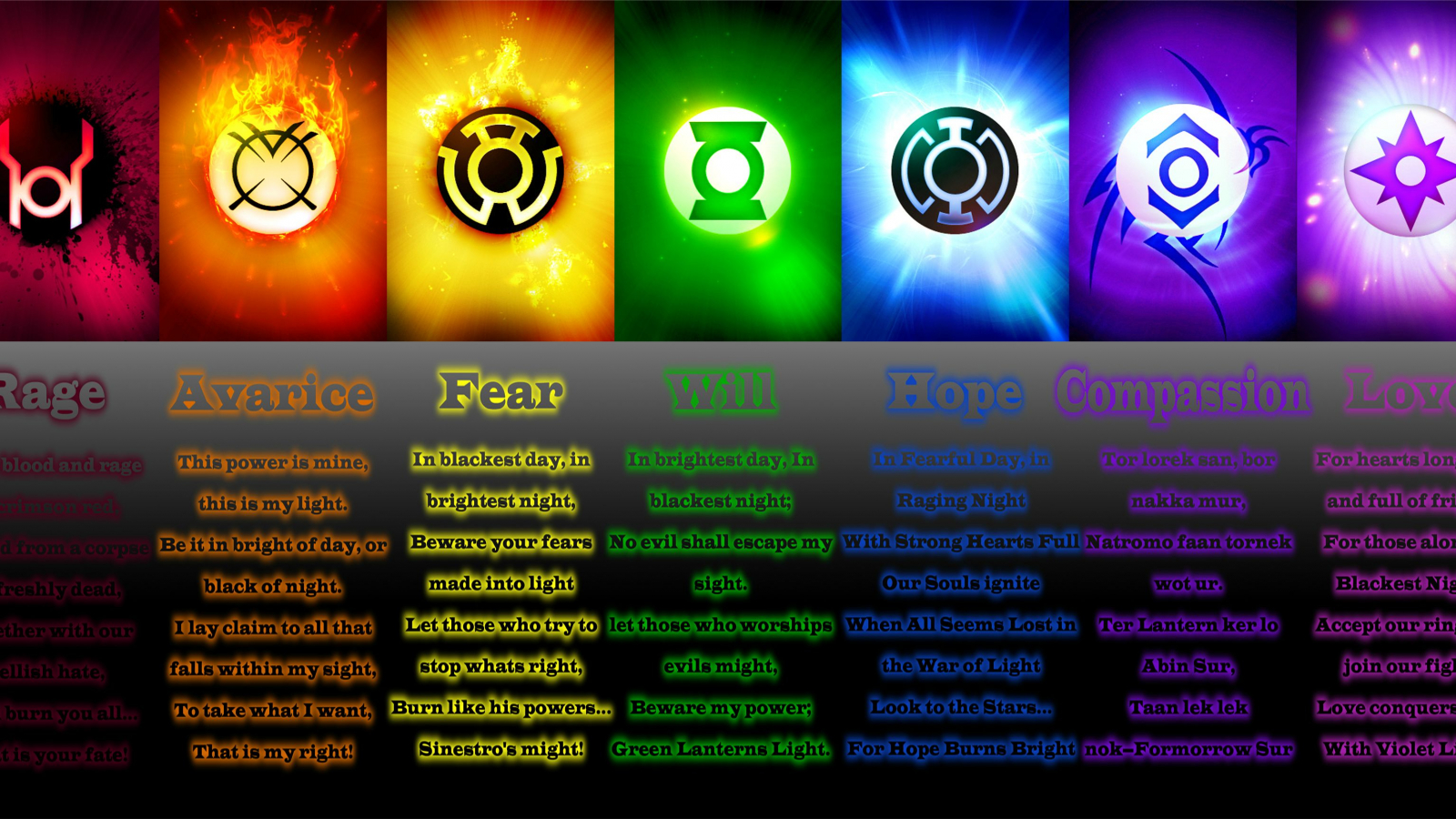Free download All 9 Lantern Corps Oaths HD Walls Find ...