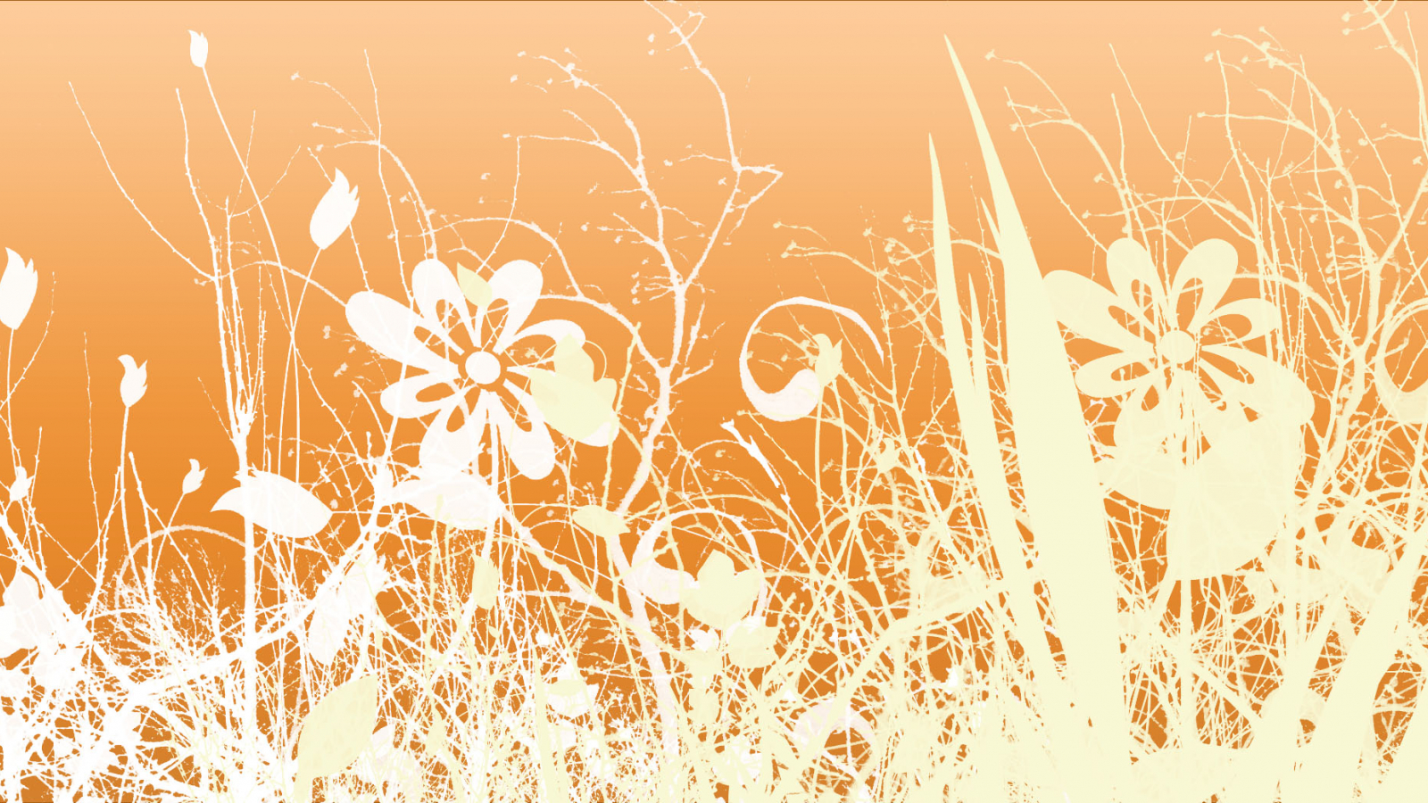 Free Download Orange Floral Vintage Pattern Background Wallpaper