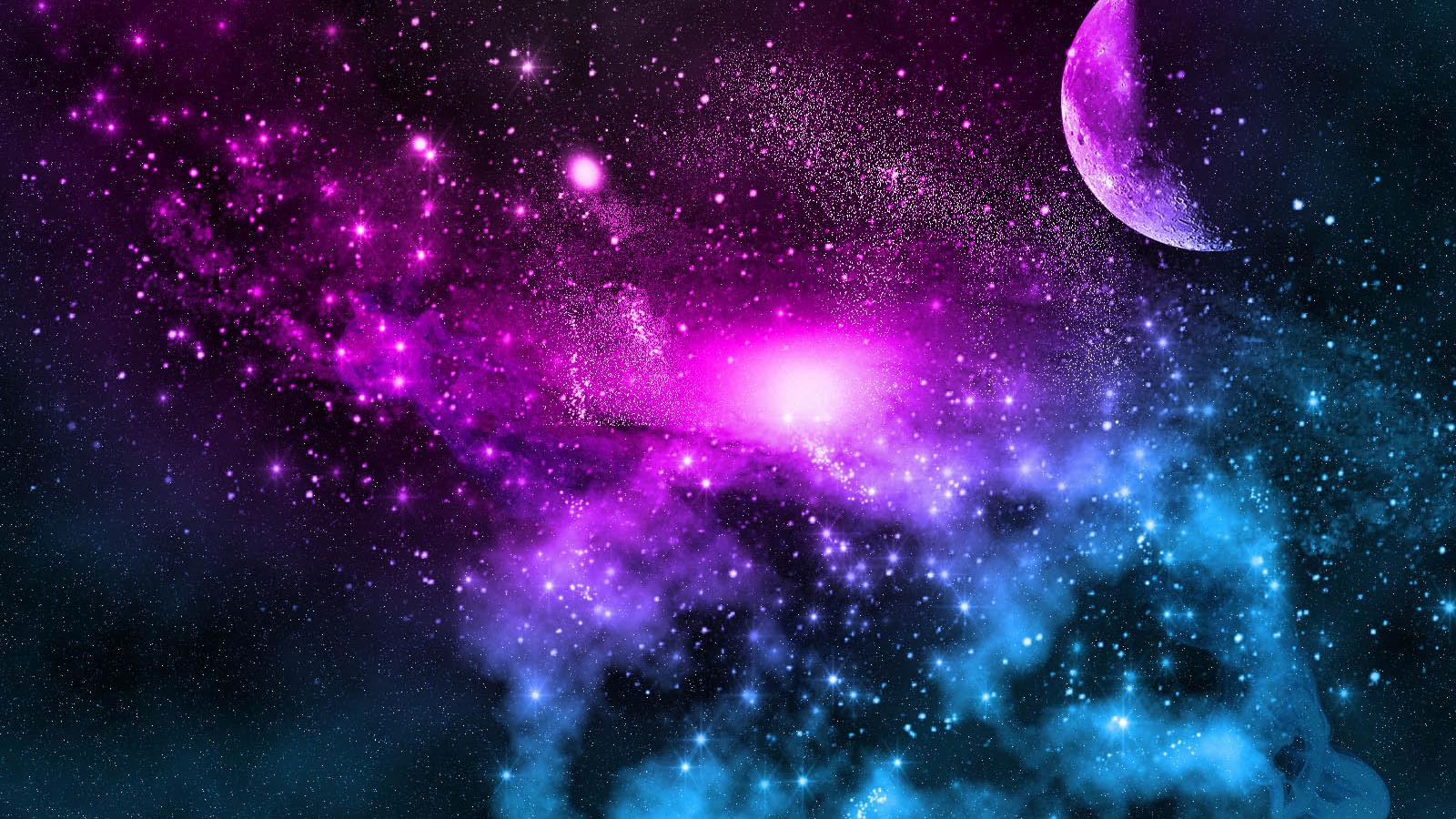 Free download Beautiful Moon Galaxy Wallpaper Hd 1600x1000 ...