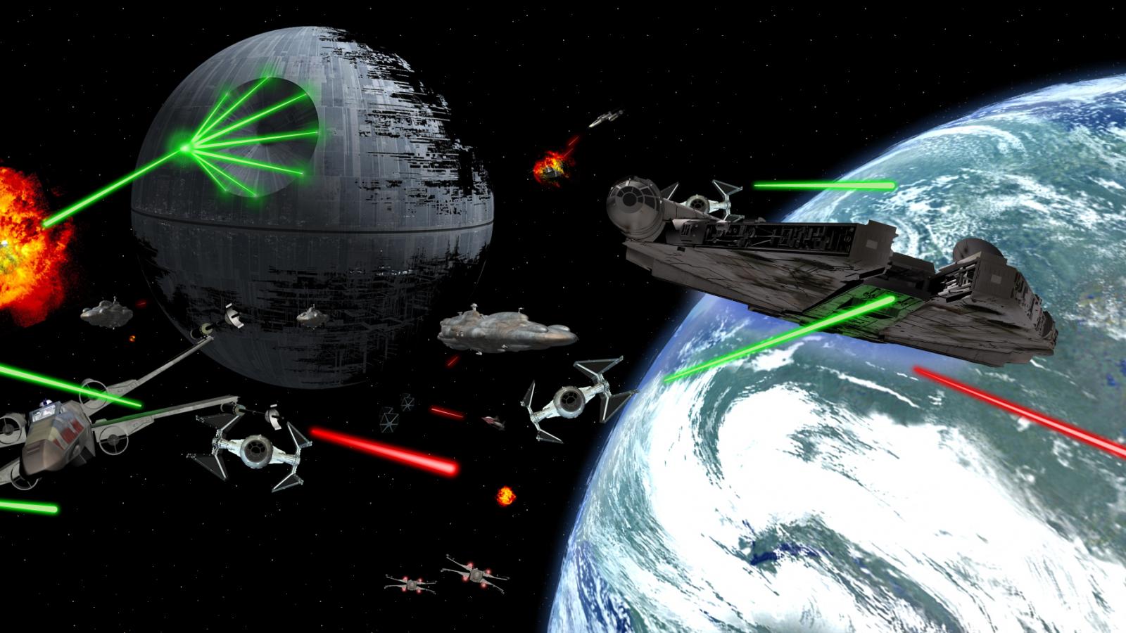 Free Download 50 Star Wars Space Battle Wallpaper On