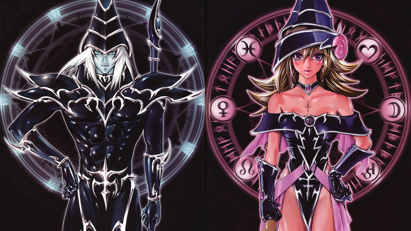 Free Download Dark Magician And Dark Magician Girl Artwork By