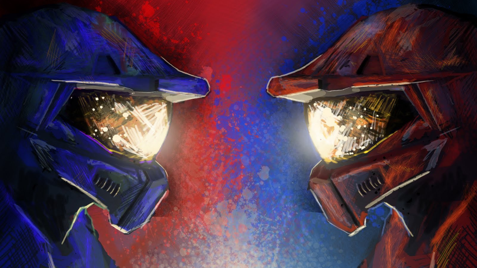 Free Download Red Vs Blue Backgrounds Sf Wallpaper 1600x1035 For