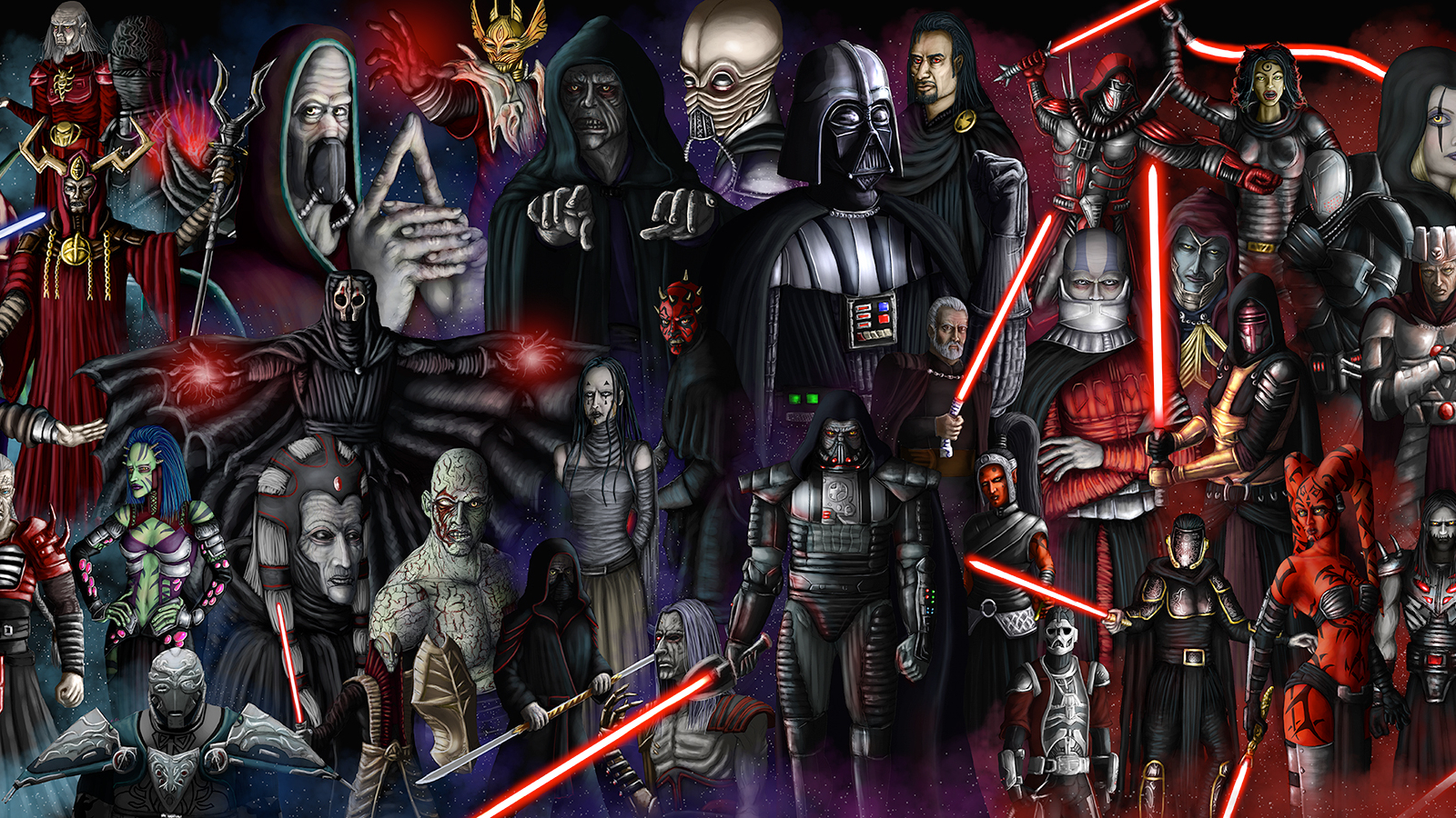 Sith Lord Wallpaper Star Wars Lords 2330x900