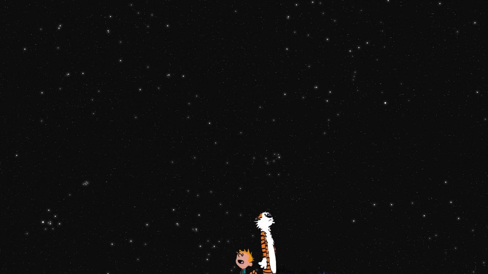 Free Download Calvin Hobbes Stars Wallpaper 194683 1920x1200 For