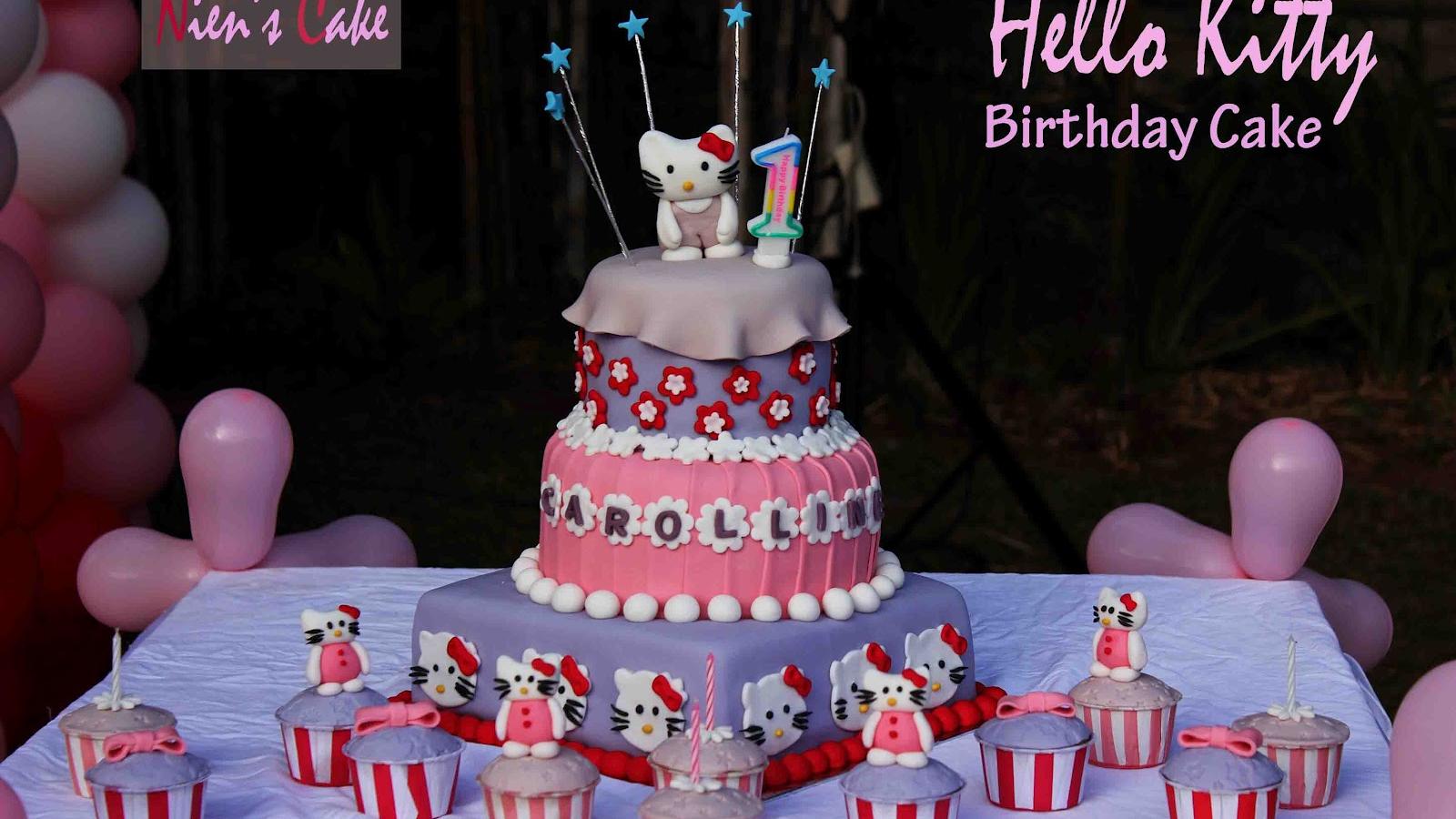 Awe Inspiring Free Download Hello Kitty Walpaper Cake Ideas And Designs Birthday Cards Printable Benkemecafe Filternl