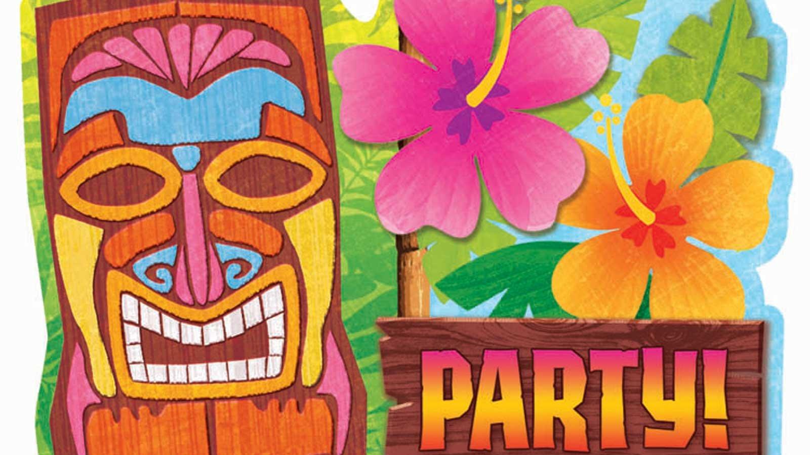 It's just an image of Free Printable Luau Invitations regarding downloadable luau invitation