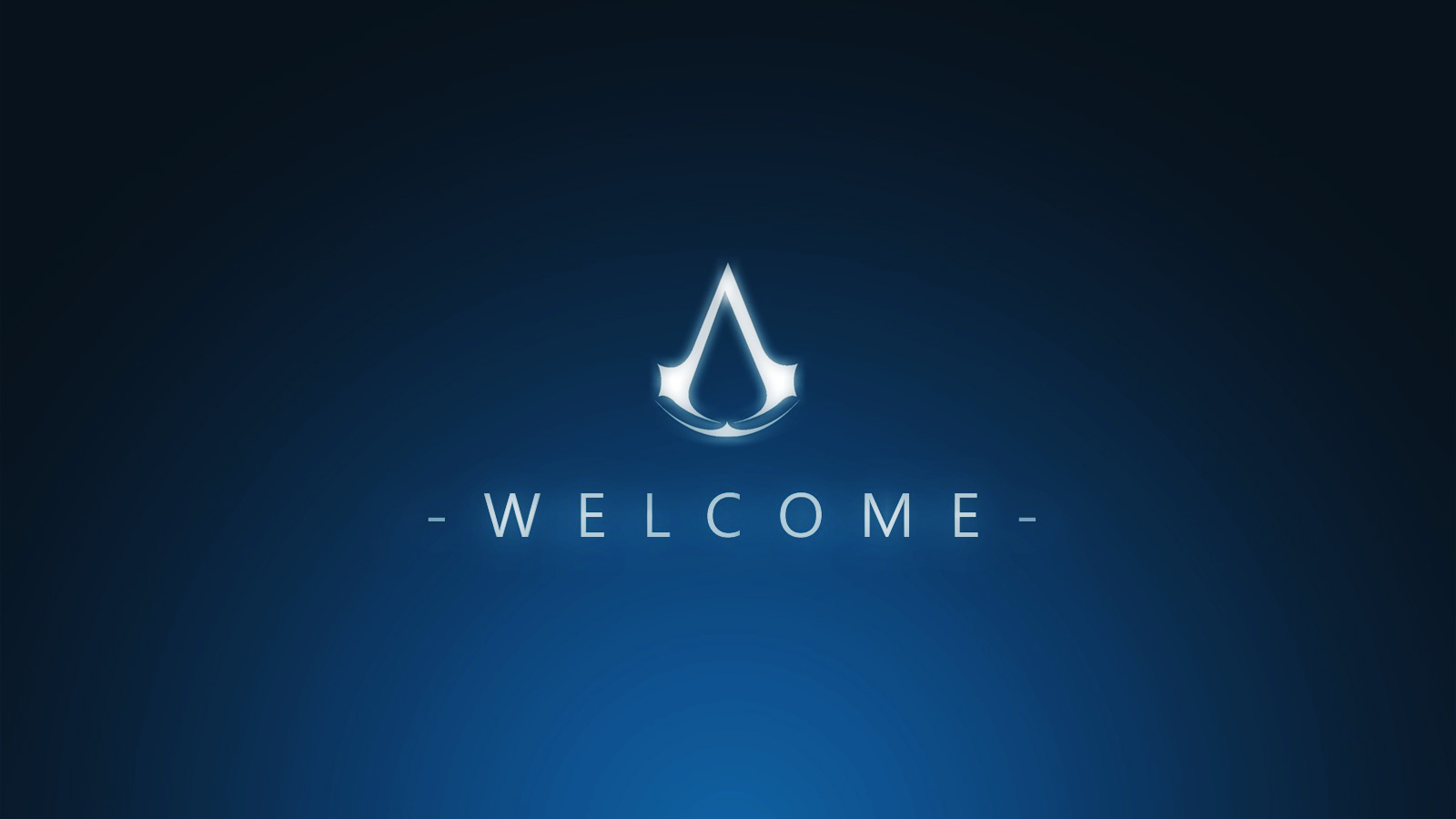 Free Download Creed Symbol Hd Wallpapers Hd Video Game Desktop Wallpapers Gameshd 1600x1000 For Your Desktop Mobile Tablet Explore 46 Blue Gaming Wallpaper Blue Desktop Wallpaper Dark Blue Wallpaper