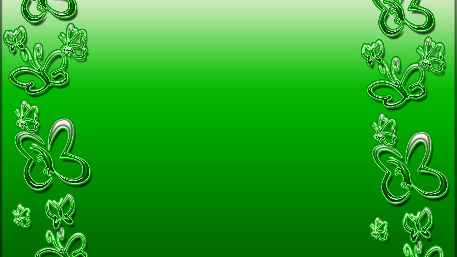 Открытка с зеленым фоном