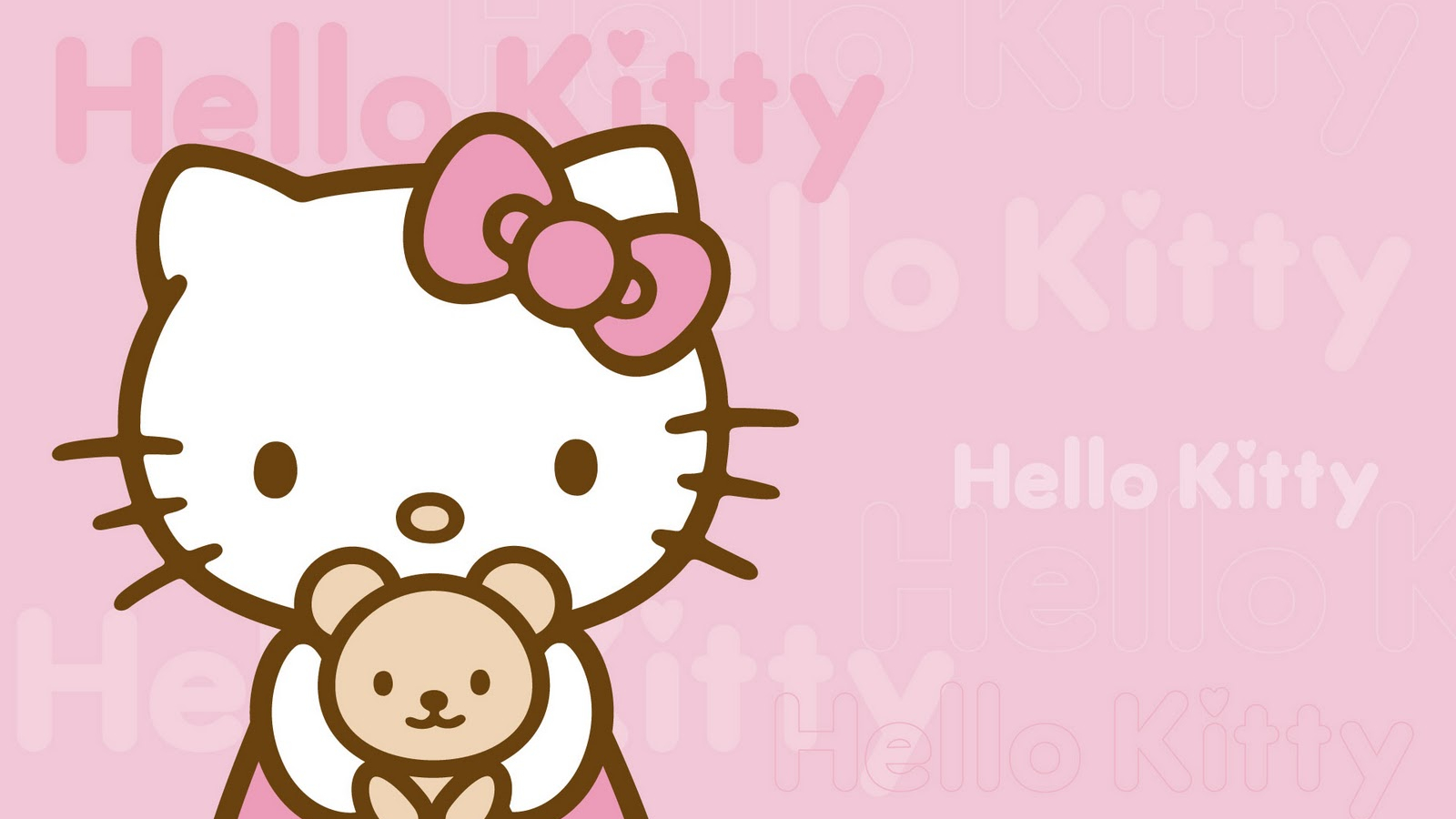 Free Wallpaper Hello Kitty Imut Dan Lucu [1600x1000