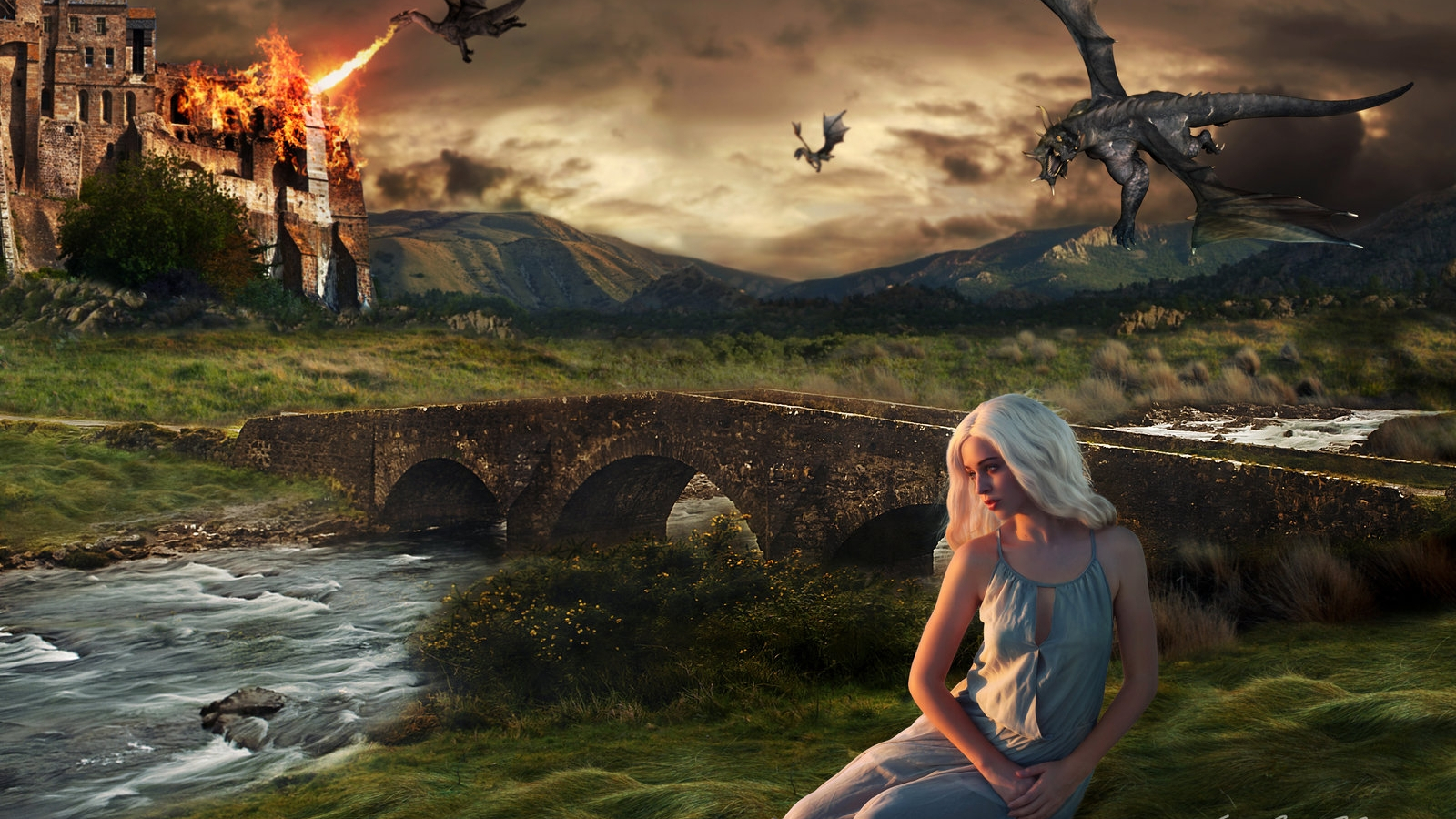 Free Download Daenerys And Her Dragons Game Of Thrones Wallpaper