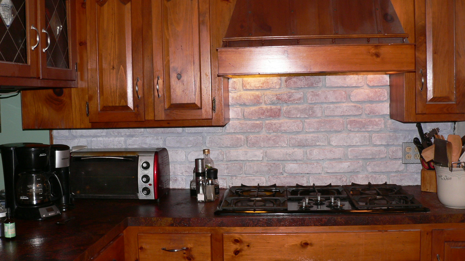 - Free Download Faux Brick Kitchen Backsplash