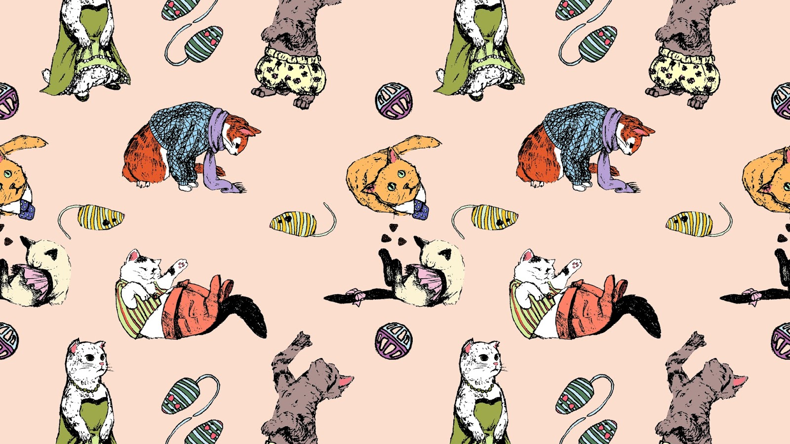 Free Download Cat Wallpapertiled Pattern 1600x1600 For Your Desktop Mobile Tablet Explore 48 Cat Drawings Wallpaper Cats Wallpaper Cat Wallpaper 1920x1080 Screensavers And Wallpaper Cats