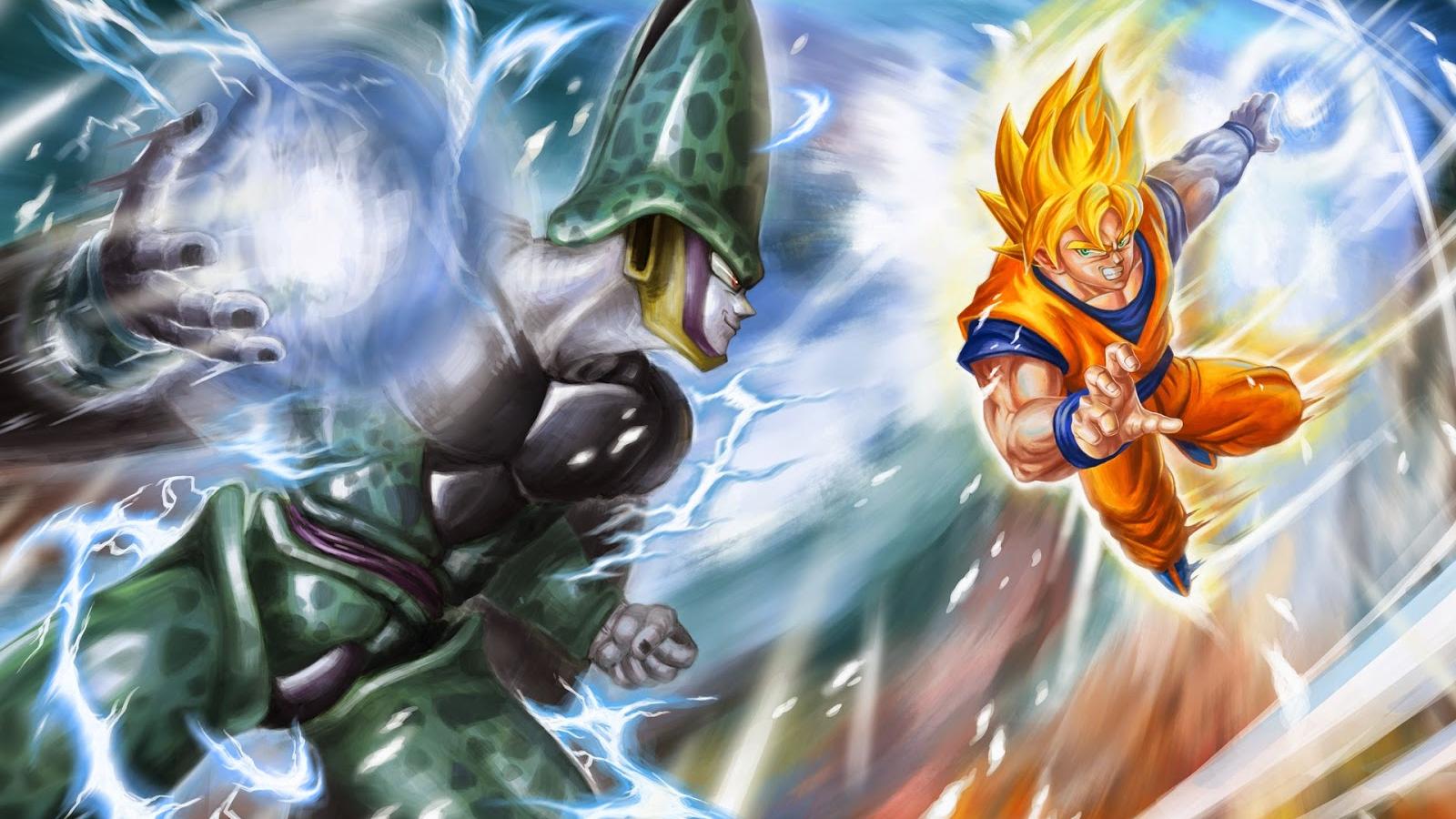 Free Download Goku Vs Cell Dragon Ball Z Fondos De Pantalla Hd