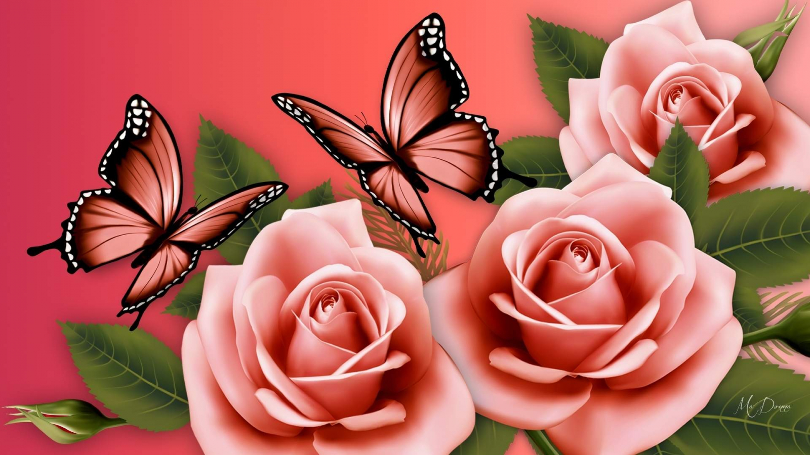 Free Download 35 Flowers And Butterflies Wallpapers Download At