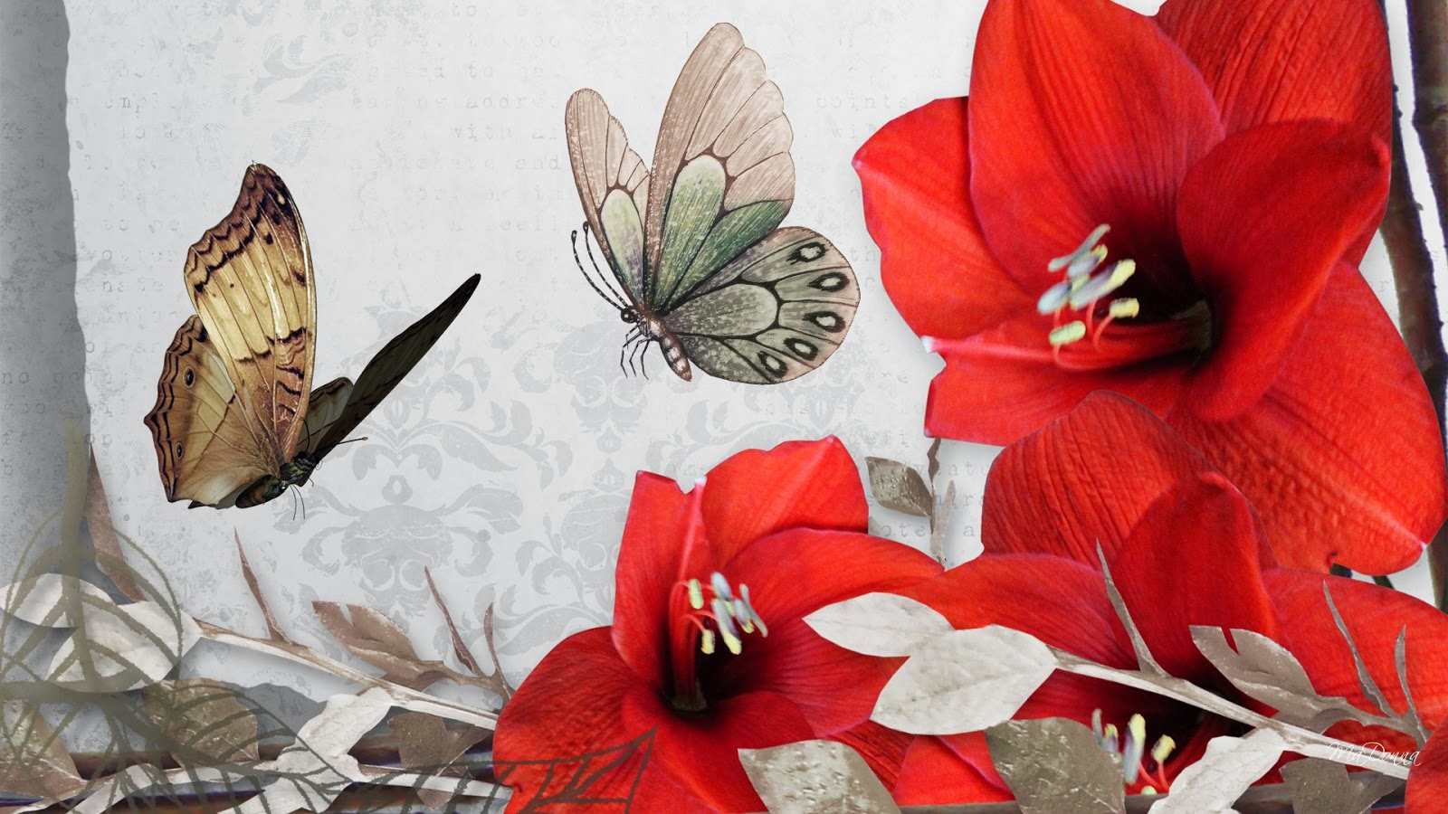 Free Download Vintage Flower Wallpaper Beautiful Desktop