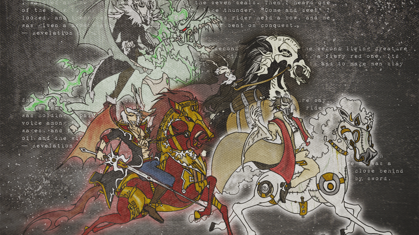 Free Download Four Horsemen Of The Apocalypse Wallpaper The Four