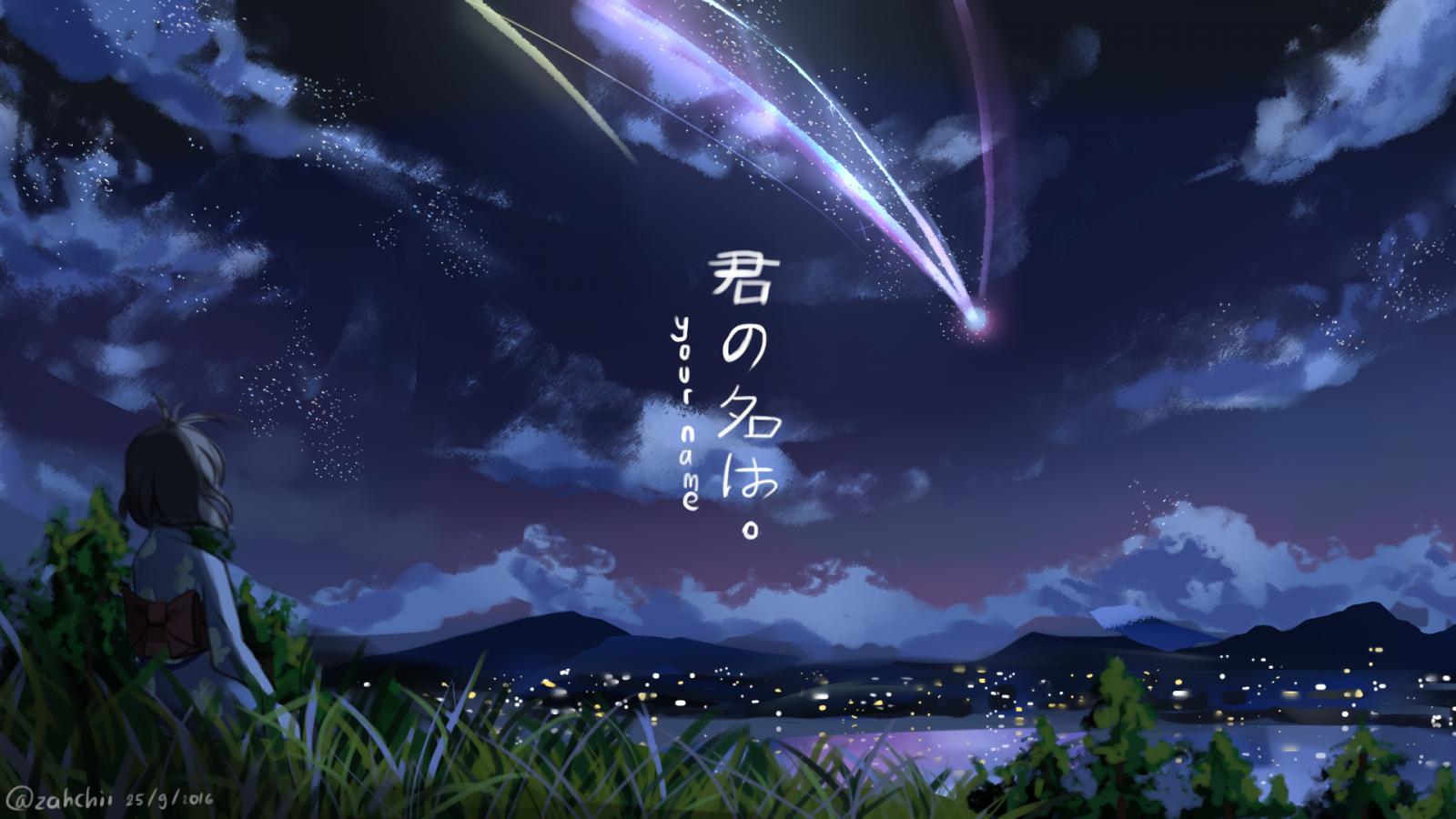 Free Download Makoto Shinkai Kimi No Na Wa Wallpaper Full Hd