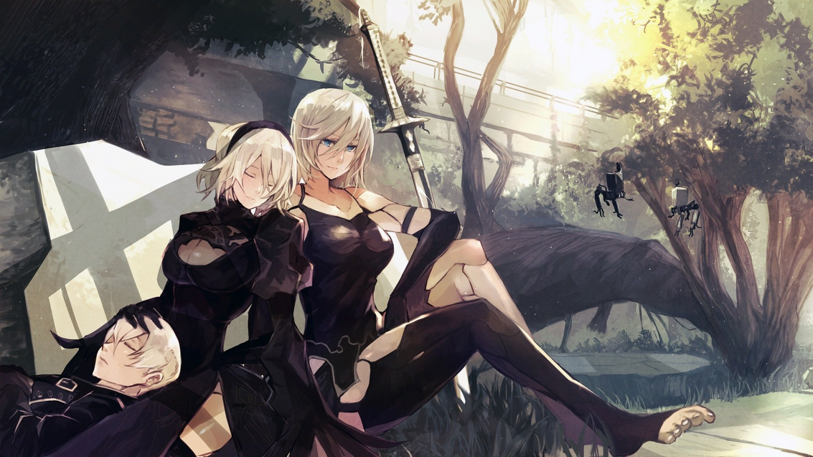 Free Download Nier Automata A22b And 9s Hd Wallpaper Background