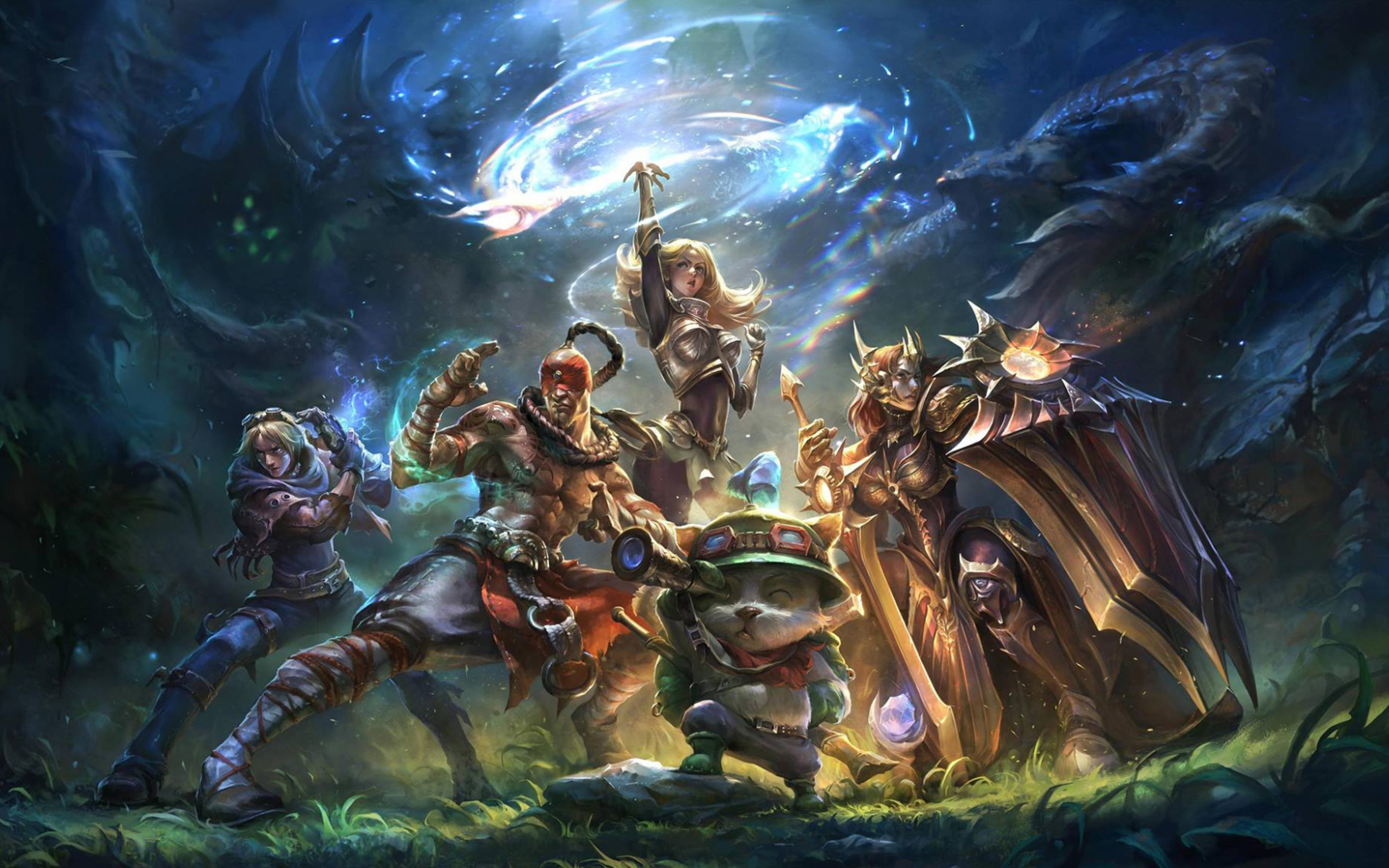 Free Download Teemo Lux Lee Sin Ezreal Leona League Of Legends