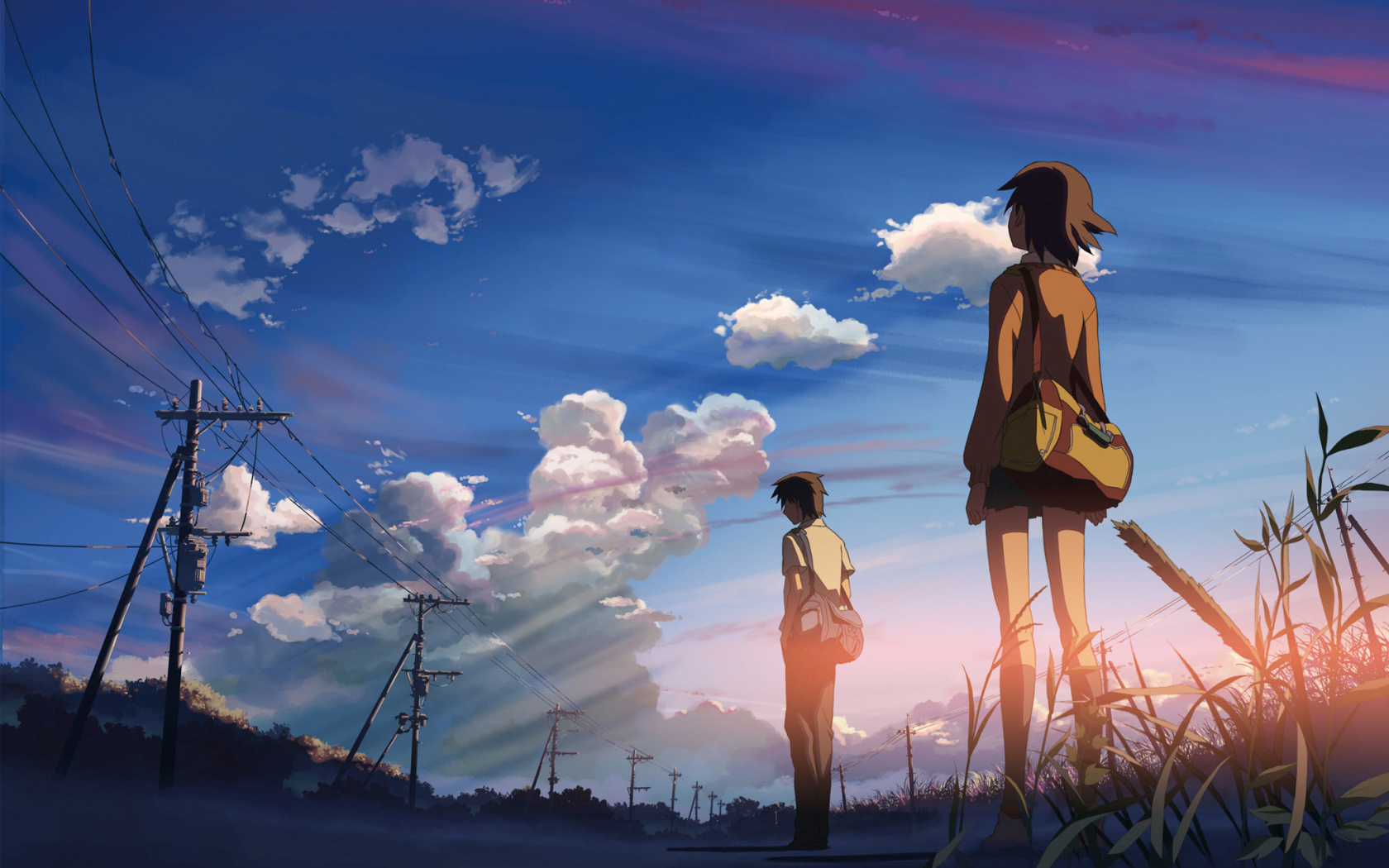 Free Download Anime Love Couple Manga Country Field Blue Sky Art