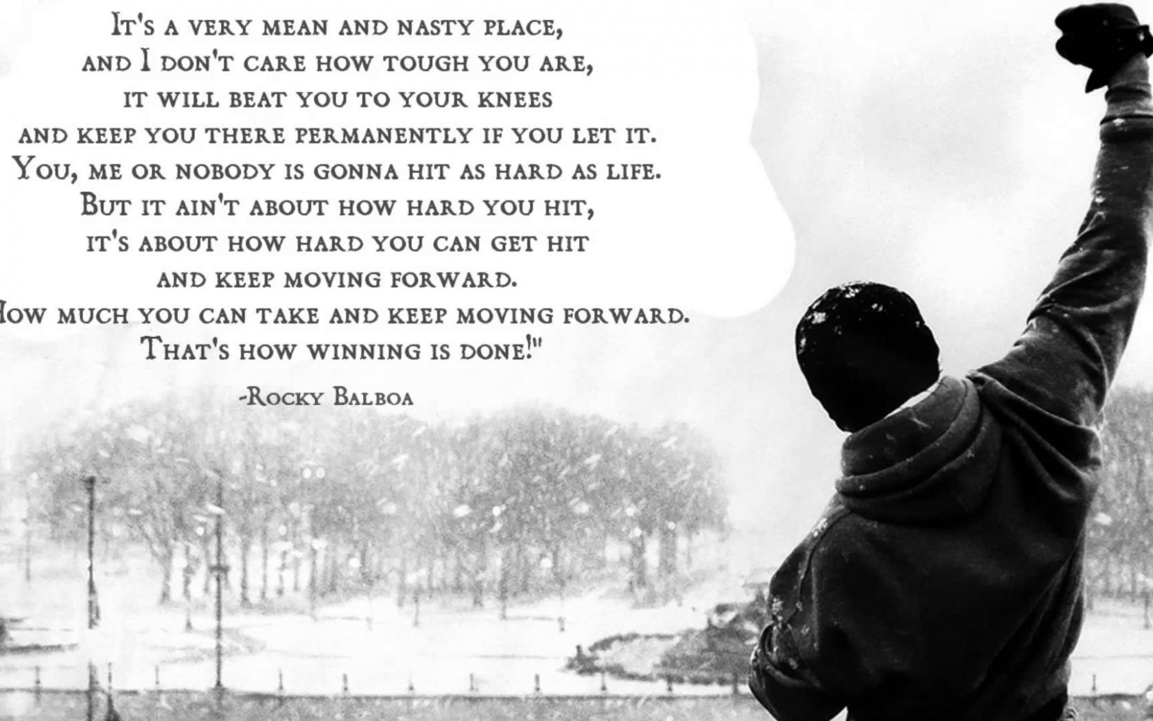 Free Download Rocky Rocky Balboa Movie Quote Hd Wallpaper