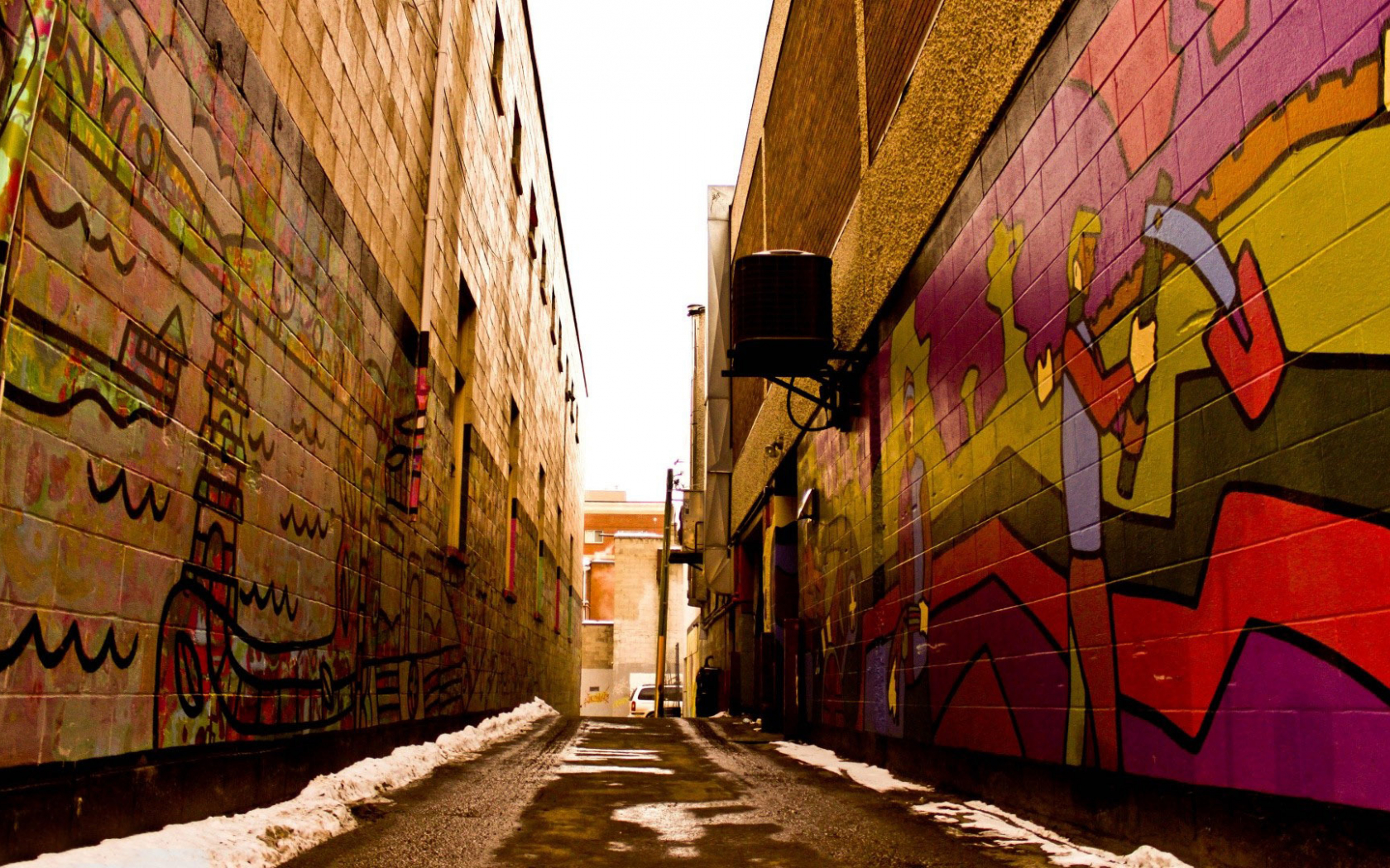 foto de Free download Graffiti covered alley walls wallpaper 11616 ...