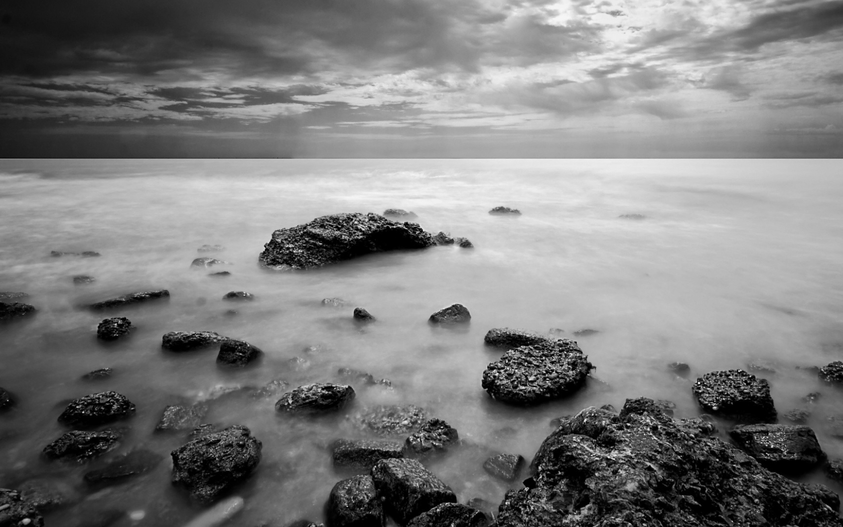 Free Download Black And White Landscapes Nature Monochrome Sea
