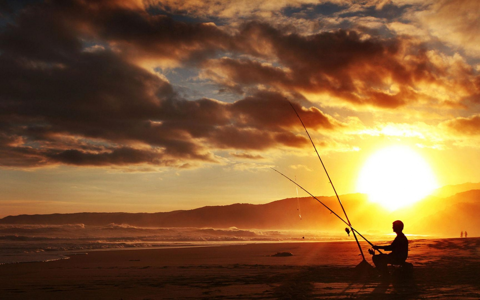 Free Download Man Fishing On Beach In Sunset Hd Wallpaper Wallpaper List 1920x1080 For Your Desktop Mobile Tablet Explore 49 Fishing Wallpaper Hd Fish Wallpaper Fly Fishing Wallpaper Fish