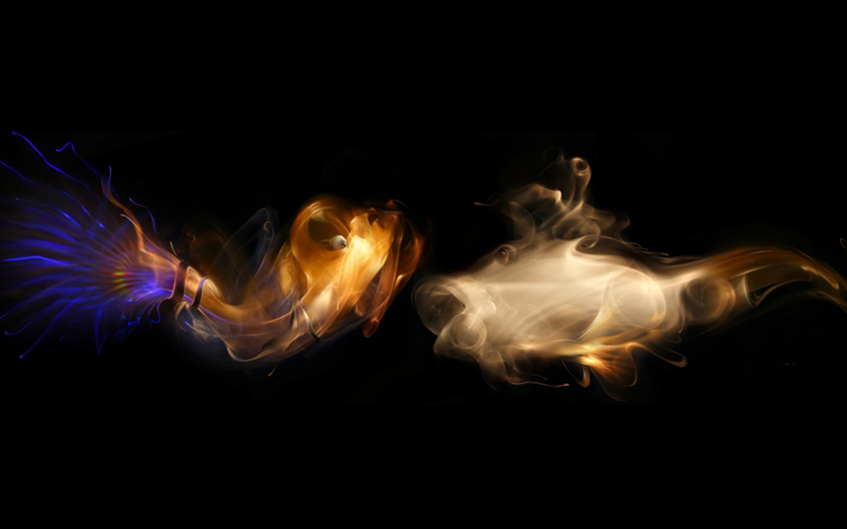 Free Download Multi Color Smoke Fish With Black Background 3d Gaming Hd Wallpapers 1920x1080 For Your Desktop Mobile Tablet Explore 48 3d Hd Color Wallpapers Free 3d Wallpaper Wallpaper