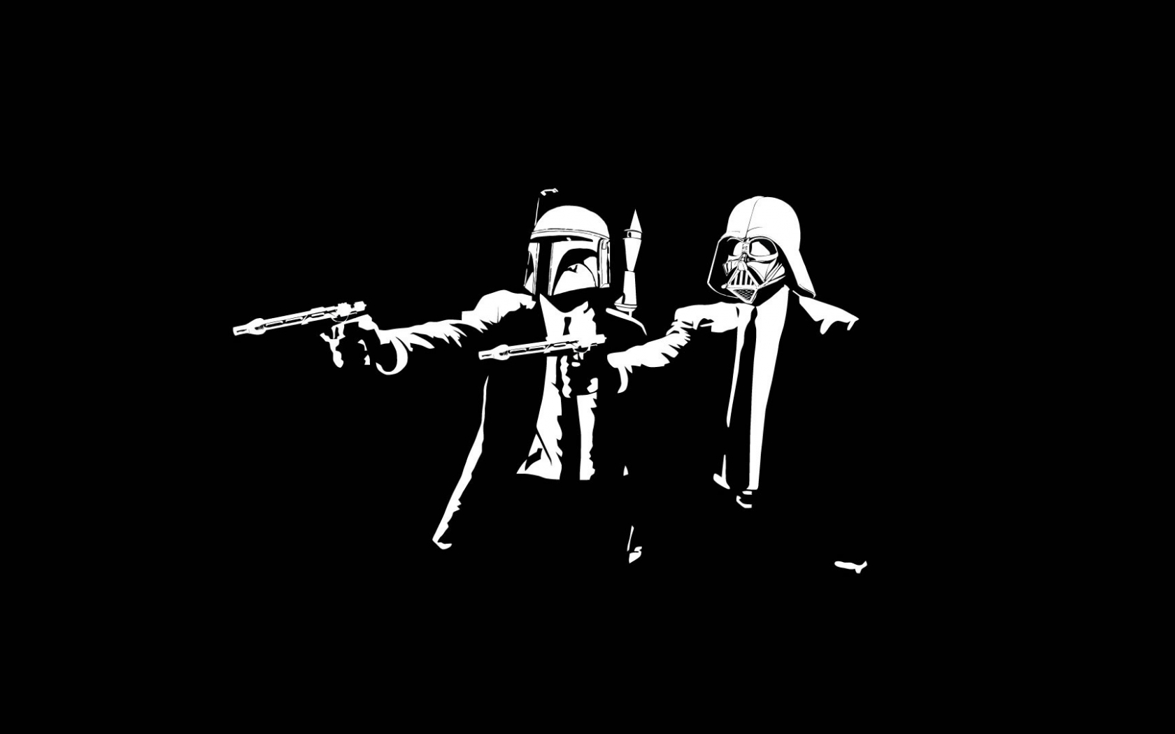Free Download Star Wars Pulp Fiction Boba Fett Darth Vader