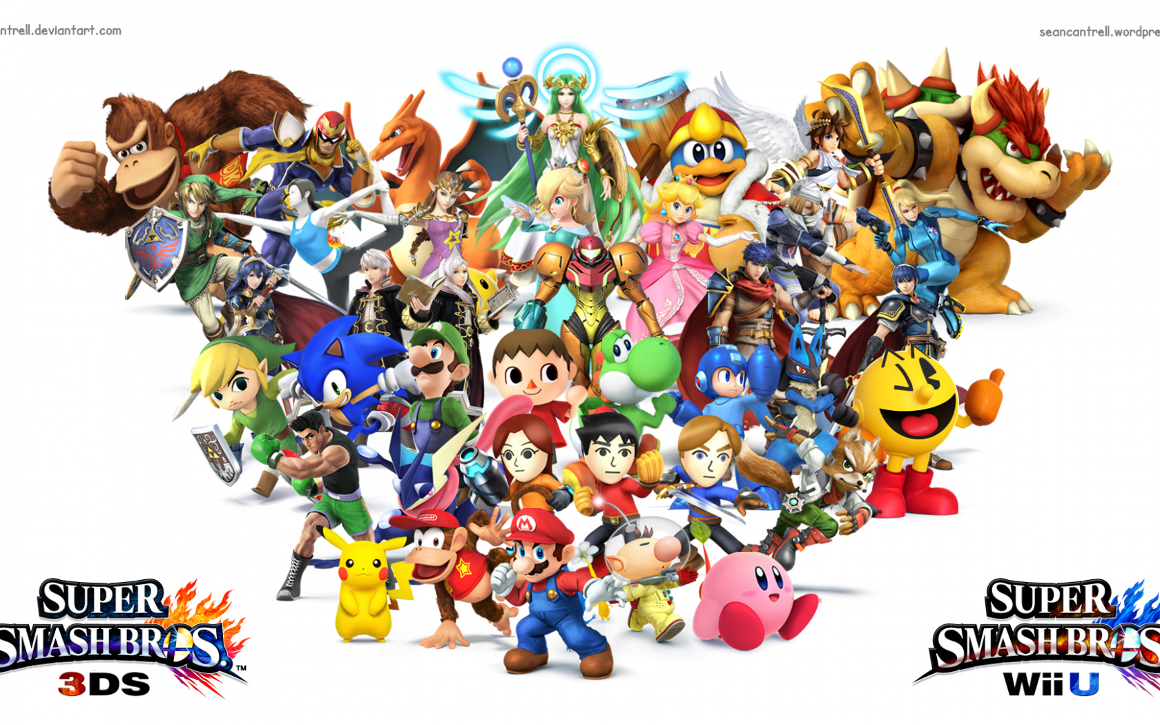Free Download Super Smash Bros Wii U 3ds Wallpaper By Seancantrell