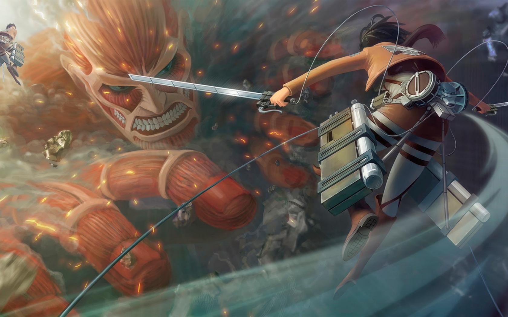 Free Download Attack On Titan Wallpaper Hd Eren Titan 1920x1080