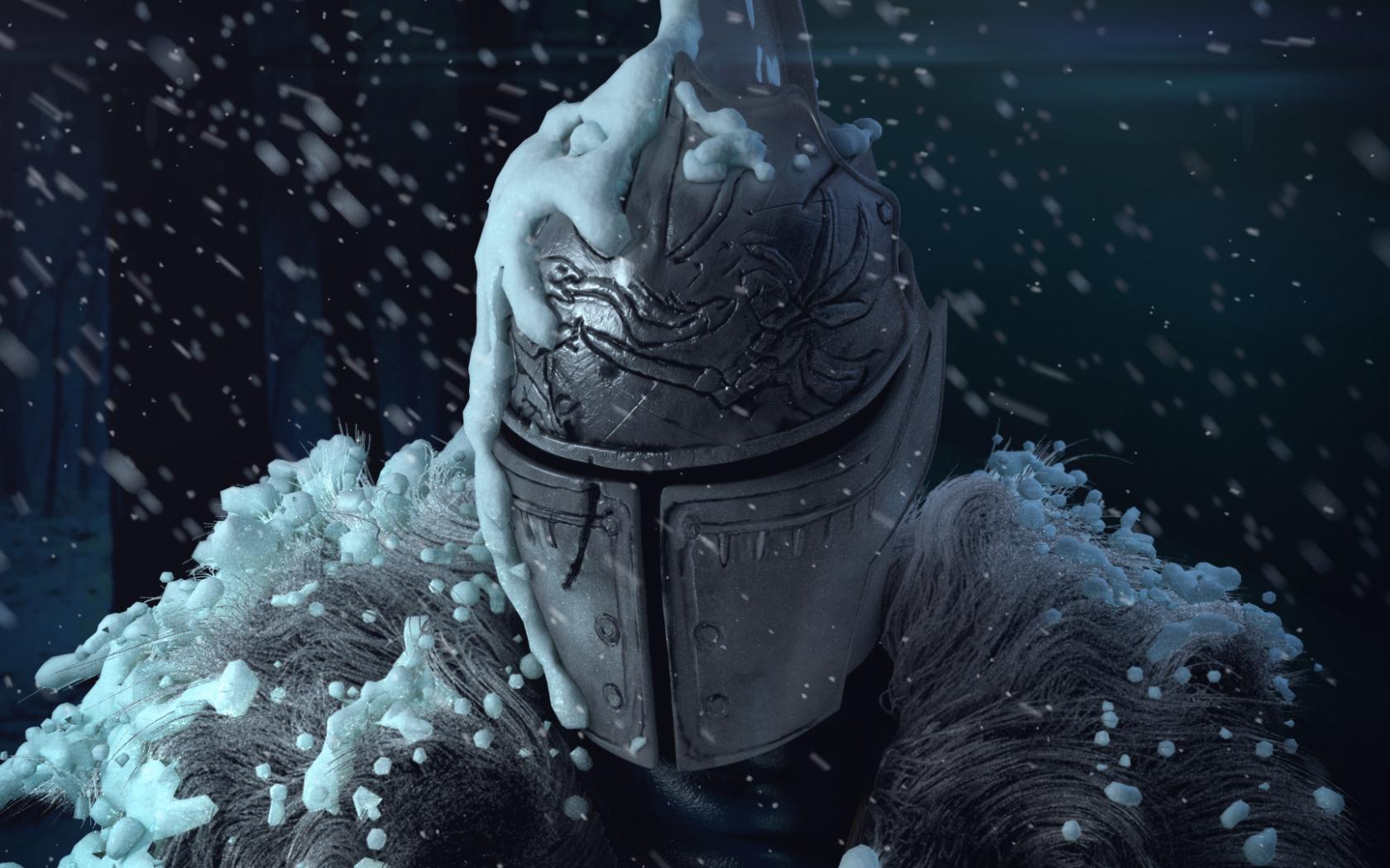 Free Download Dark Souls Fan Art On Snow By Deivuu Digital Art 3