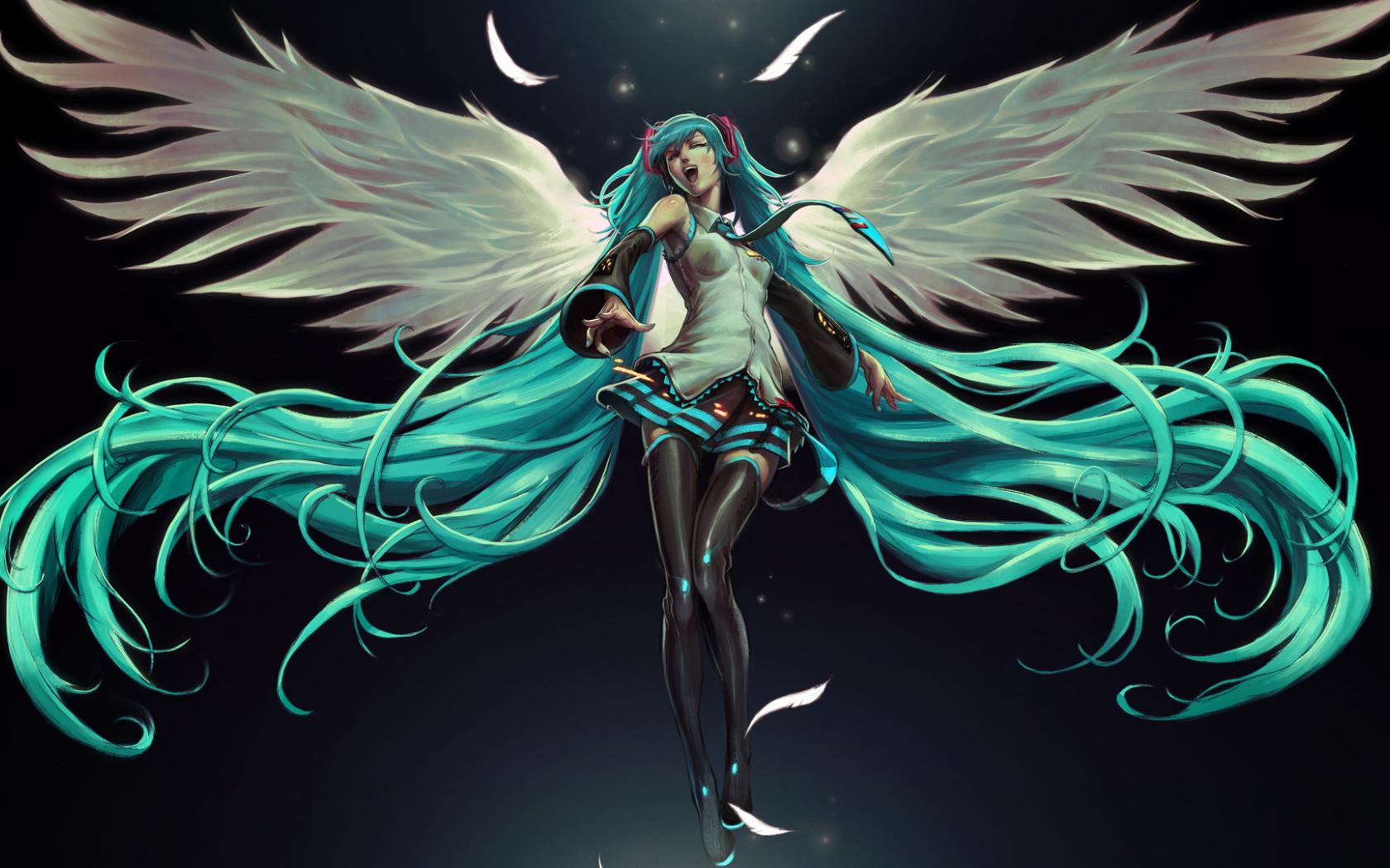 Free download Hatsune Miku angel anime black girl hatsune ...