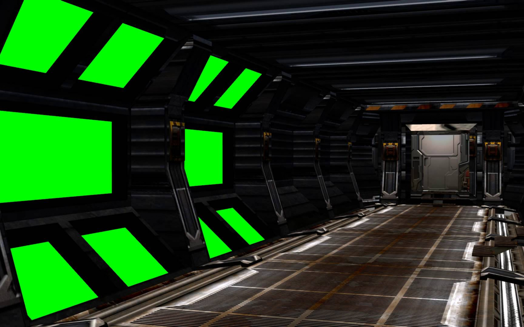 Free Download Spaceship Interior With Sound Green Screen Set A