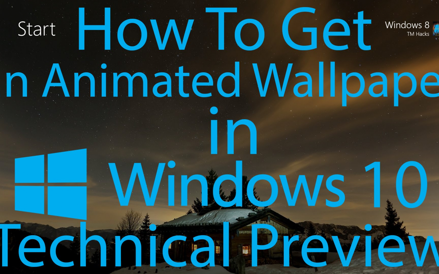 an Animated Wallpaper in Windows 10
